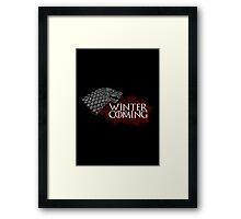 Winter Is Coming - House Stark Framed Print