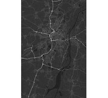 Strasbourg, France Map. (White on black) Photographic Print