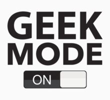 Geek Mode On Kids Clothes