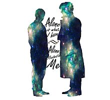 """Johnlock """"ALONE IS WHAT I HAVE"""" Photographic Print"""
