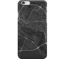 Bremen, Germany Map. (White on black) iPhone Case/Skin