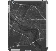 Bremen, Germany Map. (White on black) iPad Case/Skin
