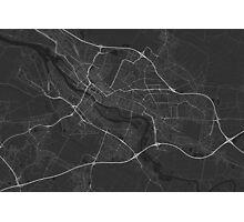 Bremen, Germany Map. (White on black) Photographic Print