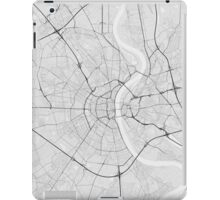 Cologne, Germany Map. (Black on white) iPad Case/Skin