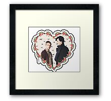 HEARTED JOHNLOCK Framed Print