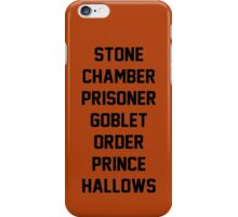 Harry Potter Titles iPhone Case/Skin
