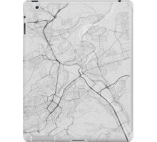 Stuttgart, Germany Map. (Black on white) iPad Case/Skin