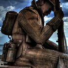 1101 Statue At Seaham #1 by Andrew Pounder