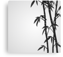 Bamboo stems Canvas Print