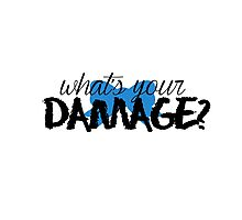 What's Your Damage? (Blue Bow) Photographic Print