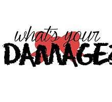 What's Your Damage? (Red Bow) by Valerie Genzano