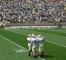 The Huddle-Notre Dame Football by 313 Photography