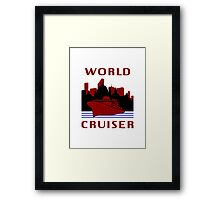 Being A World Cruiser Framed Print