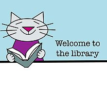 Library Welcome Cat by Sue Cervenka