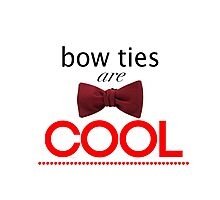 Doctor Who - Bow Ties Are Cool Photographic Print