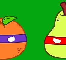 Teenage Mutant Ninja Fruit by OneWeirdDude