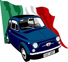 Classic Fiat 500F dark blue by car2oonz