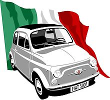 Classic Fiat 500F white by car2oonz