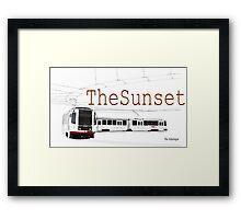 Muni Train in the Sunset Framed Print