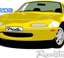 Mazda Miata yellow by car2oonz