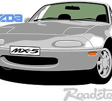 Mazda MX-5 silver by car2oonz