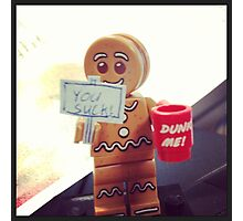Lego gingerbread man Photographic Print
