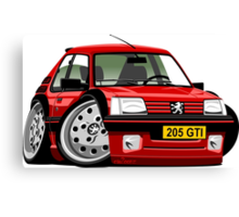 Peugeot 205 GTI caricature red Canvas Print
