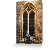 The Vaults Garden Cafe Bicycle, Oxford, England Greeting Card