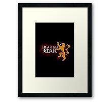 Hear Me Roar - House Lannister Framed Print
