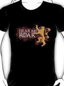 Hear Me Roar - House Lannister T-Shirt