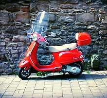 Beautiful Red Vespa by Mibbles