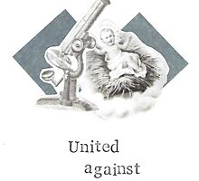 United Against Fruitcake Christmas Holiday Card by bluespecsstudio