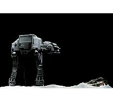 Lego AT-AT and Speeder Photographic Print