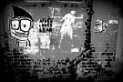Street Art - The Darker side of Minns lane by bekyimage
