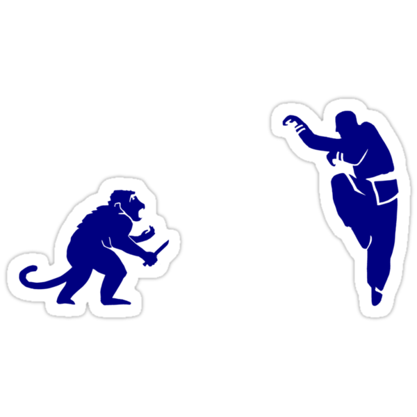 Monkey Kung Fu with Knife by Dylan DeLosAngeles