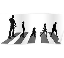 Guardians of the Galaxy - Abbey Road Beatles Poster