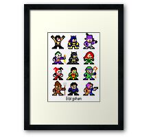 8-bit Gotham Framed Print