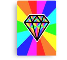 colorful diamond Canvas Print