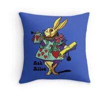 Ask Alice - The White Rabbit 2 - Alices Adventures in Wonderland Throw Pillow
