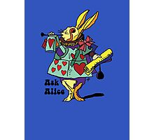 Ask Alice - The White Rabbit 2 - Alices Adventures in Wonderland Photographic Print
