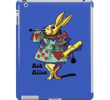 Ask Alice - The White Rabbit 2 - Alices Adventures in Wonderland iPad Case/Skin