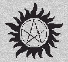 Pixelated Supernatural emblem.  by M47T3Y
