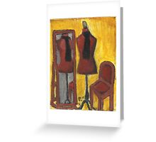 Red Mannequin Reflected Greeting Card