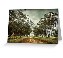 Dry weather road Greeting Card