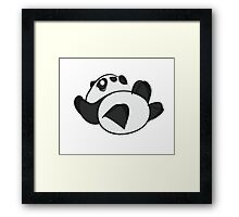 Tumbling Panda Bear Framed Print