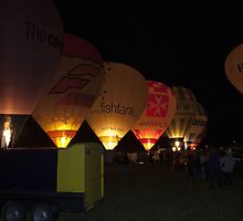 Bristol Balloon Fiesta Night Glow by Keith Larby