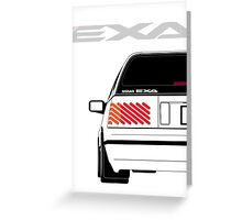 Nissan Exa Sportback - White Greeting Card