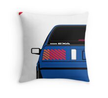 Nissan Exa Sportback - JAP Edition Blue Throw Pillow