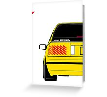 Nissan Exa Sportback - Yellow Greeting Card