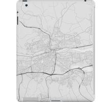 Cork, Ireland Map. (Black on white) iPad Case/Skin